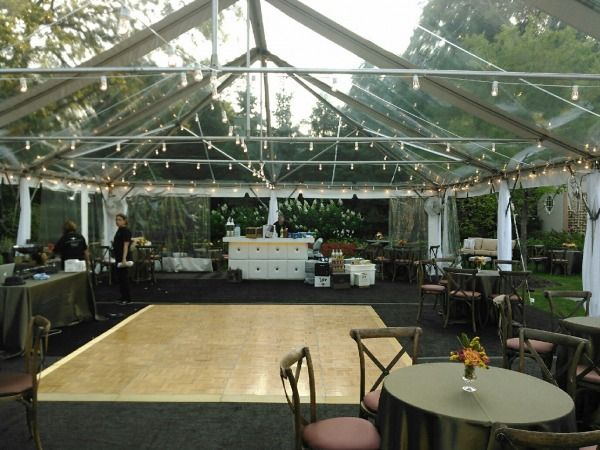 Clear Tent with Dance Floor - Arlington Heights, Illinois