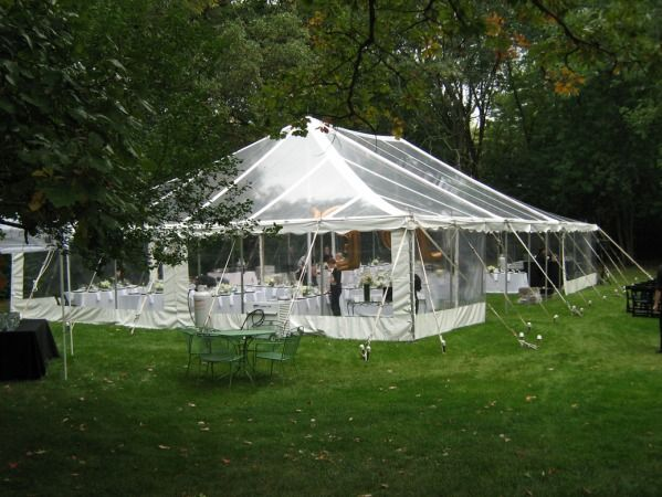 Clear Top Tent with Sides - Arlington Heights, Illinois