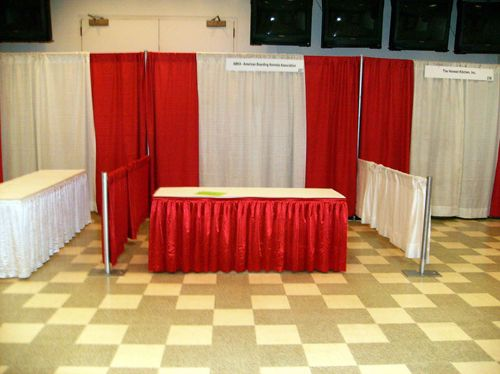 Pipe and Drape with Table Skirting - Arlington Heights, 60005