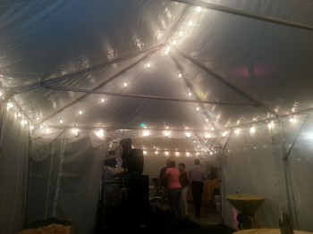 Café String Lights create a European café ambience under your tent. Use as many or as few strands as you need to enhance your event. & Lighting | Indestructo Rental Company Inc. Section / Events ...